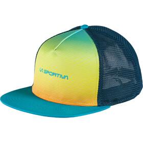 La Sportiva Fade Trucker Hat Unisex Tropic Blue/Apple Green